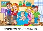 family theme image 1  ... | Shutterstock . vector #116062807