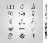 education concept icon set... | Shutterstock .eps vector #116073853
