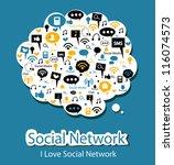 social network | Shutterstock .eps vector #116074573