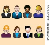 a set of eight assorted people... | Shutterstock .eps vector #116084737