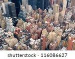 new york city manhattan street...   Shutterstock . vector #116086627