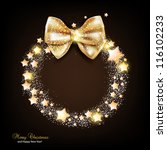 elegant christmas wreath with... | Shutterstock .eps vector #116102233