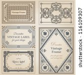 vintage frames and design... | Shutterstock .eps vector #116109307