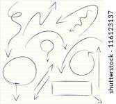 illustration of set of hand... | Shutterstock .eps vector #116123137