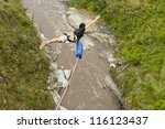 bungee jumping sequence in... | Shutterstock . vector #116123437