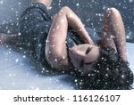 young attractive woman in mask... | Shutterstock . vector #116126107