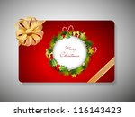 beautiful decorated gift card... | Shutterstock .eps vector #116143423