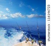 Boat Fishing Trolling In Deep...