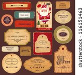 vector collection  vintage and... | Shutterstock .eps vector #116151463
