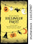 halloween party invitation card | Shutterstock .eps vector #116152987