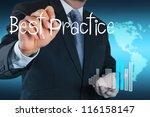 businessman hand shows best... | Shutterstock . vector #116158147