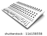 A Mixing board. 3D rendered illustration. - stock photo