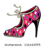 vector fashion shoe - stock vector