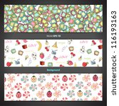 collection of banners with... | Shutterstock .eps vector #116193163