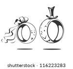 bridegroom and bride. wedding... | Shutterstock .eps vector #116223283