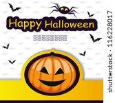 halloween template frame for... | Shutterstock .eps vector #116228017
