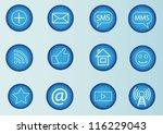 social media icons blue set | Shutterstock .eps vector #116229043