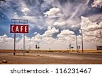 Cafe Sign Along Historic Route...