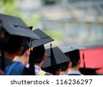 back of graduates during... | Shutterstock . vector #116236297