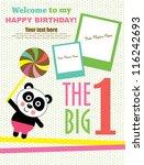 kid invitation card design.... | Shutterstock .eps vector #116242693