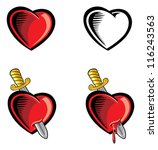 heart and dagger | Shutterstock .eps vector #116243563
