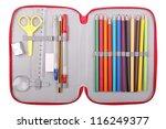 Pencil Case With School Items