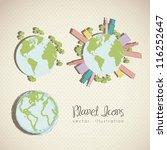 illustration of planet earth... | Shutterstock .eps vector #116252647