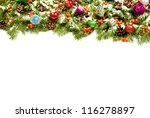 christmas background with balls ... | Shutterstock . vector #116278897