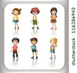 illustration of a kids on a... | Shutterstock .eps vector #116286943