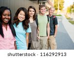diverse group of friends in a... | Shutterstock . vector #116292913