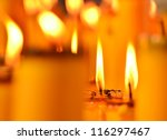 Golden Light Of Candle Flame I...