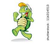 Cartoon Turtle Was Running...