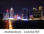 Macau at night - stock photo