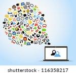 abstract speech cloud of pixel
