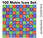 100 icons  metro style icon set ...