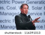 Small photo of SAN FRANCISCO, CA, SEPT 30, 2012 - CEO of Oracle Larry Ellison makes his first speech at Oracle OpenWorld conference in Moscone center on Sept 30, 2012. He is one of richest US persons
