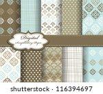 Stock vector set of vector pattern paper for scrapbook 116394697