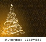 stylized christmas tree on... | Shutterstock .eps vector #116394853