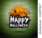 halloween night sign | Shutterstock .eps vector #116397817