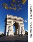 famous arc de triomphe in ... | Shutterstock . vector #116400697