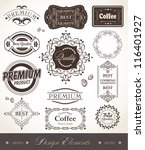 vector set of calligraphic... | Shutterstock .eps vector #116401927