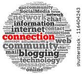 internet connection info text...   Shutterstock . vector #116404243
