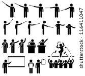 speaker presentation teaching... | Shutterstock . vector #116411047