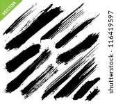 brush strokes vector | Shutterstock .eps vector #116419597