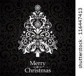 christmas tree.  illustration | Shutterstock . vector #116447413