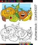 coloring book or page cartoon... | Shutterstock .eps vector #116454337