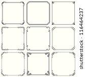 vector decorative frames  set... | Shutterstock .eps vector #116464237