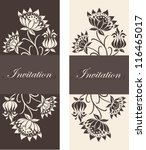 set of floral invitation cards. | Shutterstock .eps vector #116465017