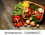 organic food background... | Shutterstock . vector #116466427