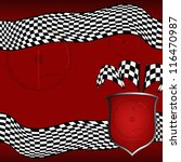 vector checkered racing... | Shutterstock . vector #116470987